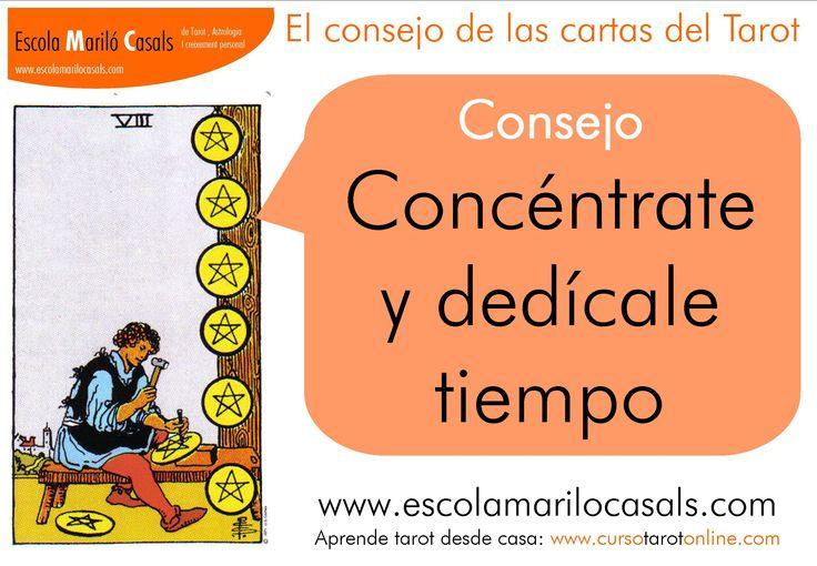 Concéntrate y dedícale tiempo   #consejoTarot #aprenderTarot #arcanosmenores #oros #8Oros #detallista #aprendiz #meticulos #repetir #orgullo #trabajobienhecho #raider #tarotfácil #dienro #estudiartarot #barcelona #escuelatarot #escuelaonline #tarotfácil #arcanos #menores