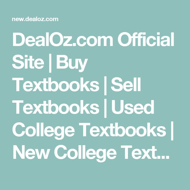 DealOz.com Official Site | Buy Textbooks | Sell Textbooks | Used College Textbooks | New College Textbooks | Textbook Price Comparison | Cheap Textbooks | Cheapest Textbooks | Compare Textbook Prices | Textbook Buyback | Textbook Price Bot | New and Used Music | Compare CD Prices | Compare DVD Prices | Compare Video Game Prices | New and Used DVDs | New and Used Video Games