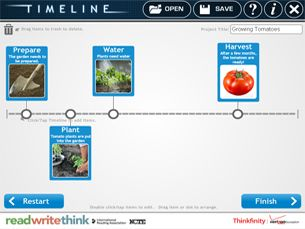 Timeline Tool  - readwritethink.org  Works on any computer that will run flash content. Rated grade 6-12 but younger students can use.