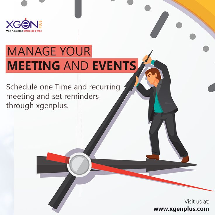 Trying to arrange meetings ? Scheduling meetings has never been easier ! Schedule your meetings and set reminders with XgenPlus  all-in-one  enterprise email solution.  Visit out website for trial: http://bit.ly/2cX3mjy