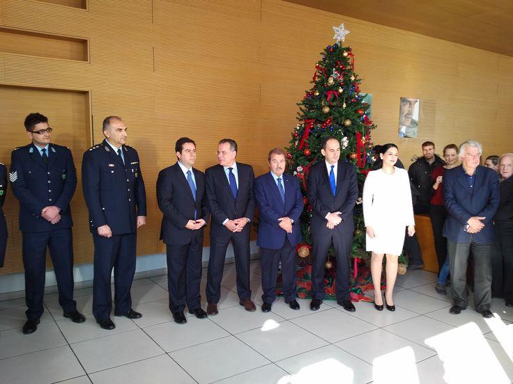 Tα Πρωτοχρονιάτικα κάλαντα από την παιδική χορωδία, τη μπάντα και το χορευτικό τμήμα του προσωπικού της Ελληνικής Αστυνομίας στα Κεντρικά Γραφεία της Νέας Δημοκρατίας