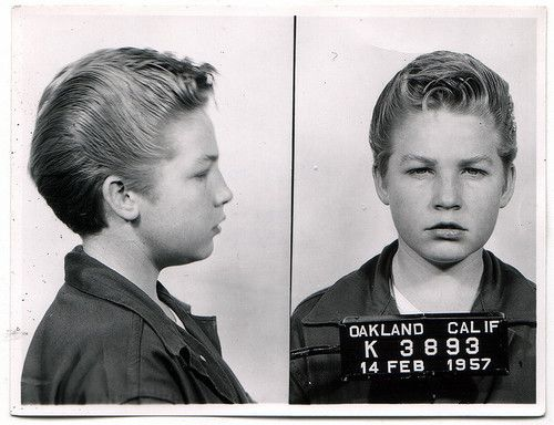 february 14, 1957 mugshot.Boys Hairstyles, 1957, Mugs Shots, Cars Thief, Kids Hairstyles, Art History, Mugshots, Kids Haircuts, February 14