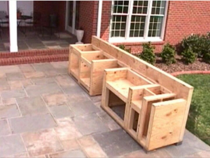 DIY Cabinet for Outdoor Grill Station | Outdoor kitchen in ...