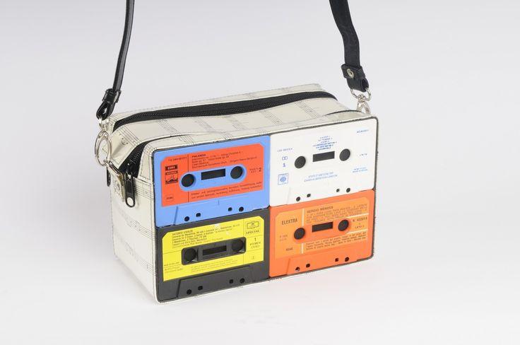 Cassette cross body bag