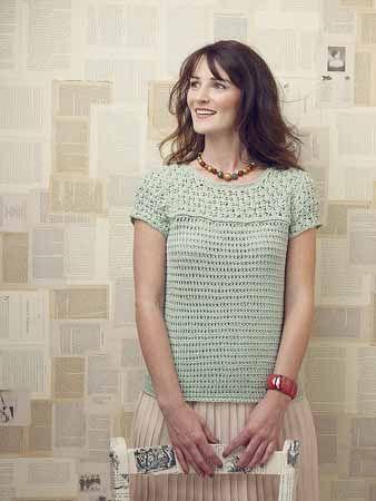 This classic crochet top is gorgeous!Vanessa Shell - Crochet Me: Crochet Stitch, Crochet Sweaters, Tunisian Crochet, Crochet Adult, Spring 2013, Crochet Patterns, Crochet Tops, Crochet Clothing