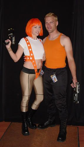 Fifth Element: Leeloo & Corbin Dallas Cosplay Costumes | ladymadelinemae.blogspot.com