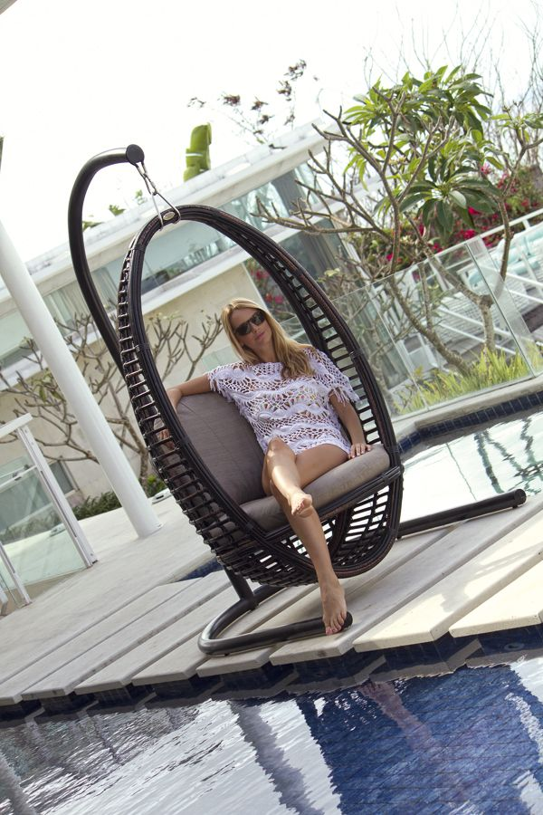 luxury outdoor furniture skyline design imagine. model heri hanging chair wbase black mushroom rattan from skyline design luxury outdoor furniture imagine f