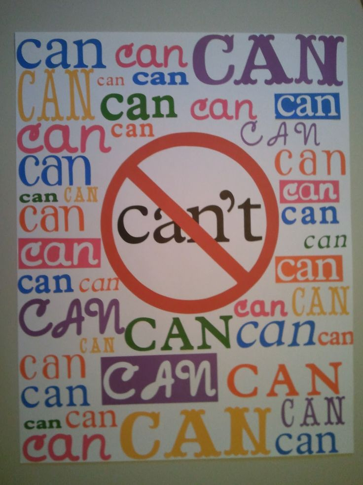 """each child draws and colors their own """"can"""" for this poster in the classroom. I love this idea! Nothing gets me more frustrated than hearing, """"I can't""""!"""