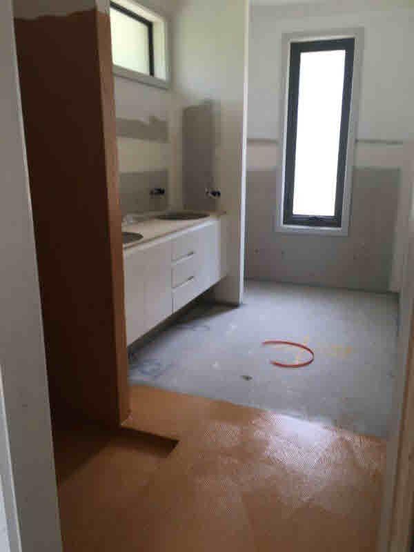 ensuite pre tiling