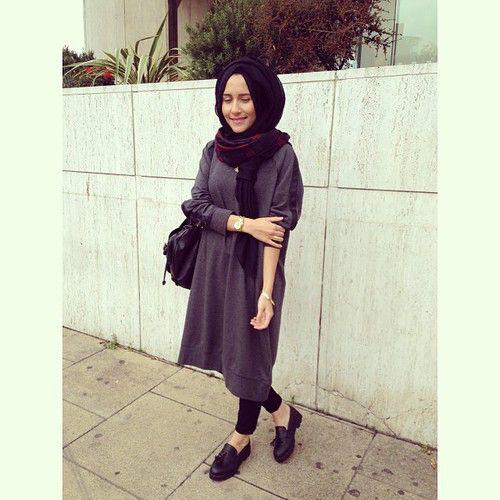 Minimal Hijab OOTD _ We Heart It