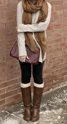 #fall #fashion casual / knit layers