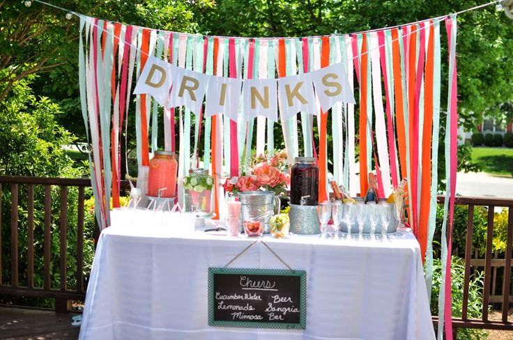 Bright Backyard Engagement Party | Not so Newlywed McGees