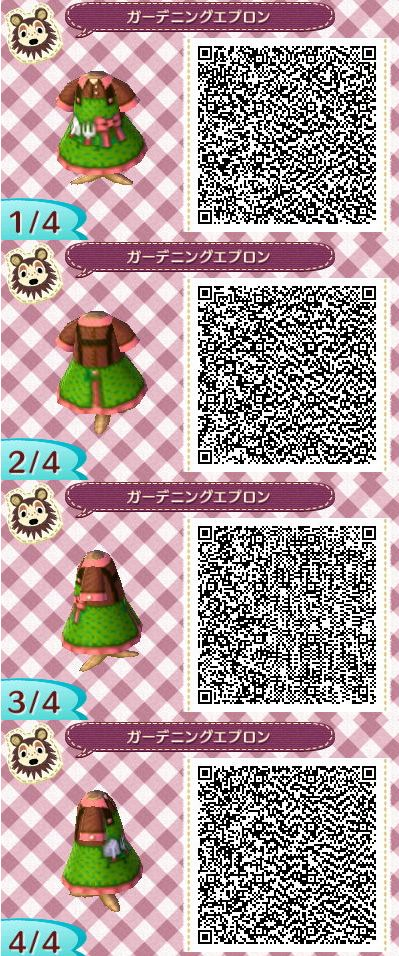 Gardening Dress Animal Crossing New Leaf Qr Code