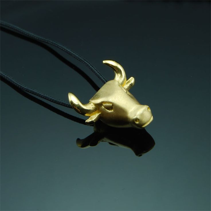Taurus - Gold Plated Pendant  #taurus #pendant #Greek #jewelry #man #woman #gift #jewellery #men #style
