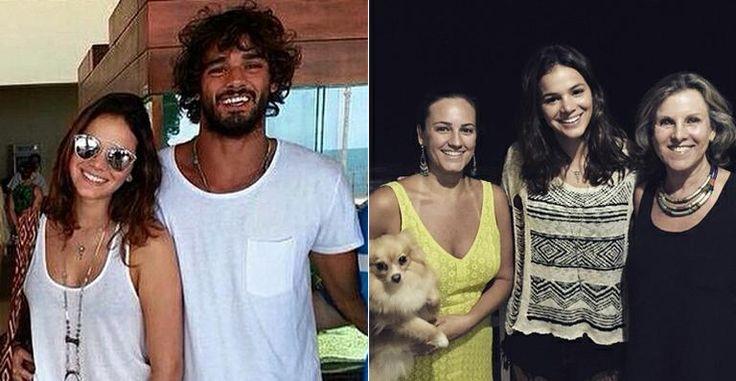 Bruna Marquezine conhece família e amigos do namorado, Marlon Teixeira
