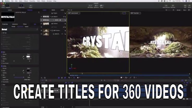 Motion Tutorial - Making Titles for 360 Videos in Motion 5