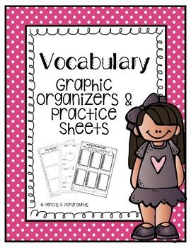 Help your students expand their vocabulary by learning new words each week! Common Core Vocabulary (Language) Graphic Organizers for upper elementary includes 9 separate organizers (growing bundle) to help students practice essential skills. Students will write each vocabulary word, record a definition, draw a picture, create an original sentence, as well as apply the word in a number