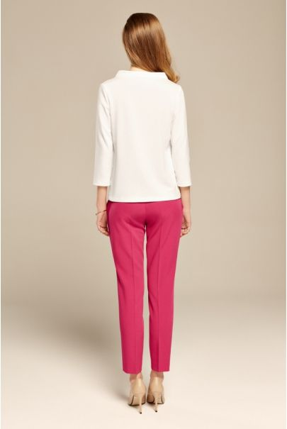 Fuksjowe klasyczne spodnie cygaretki