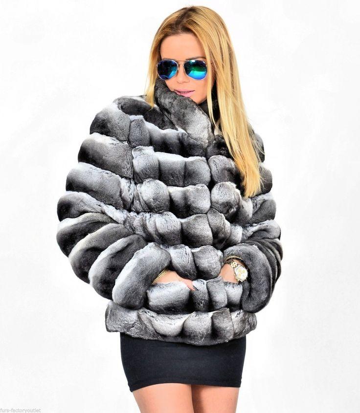 chinchilla furs  - 2015 lafuria real royal chinchilla fur coat