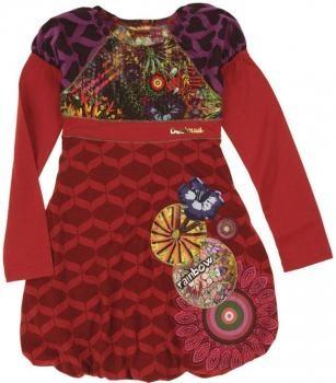 $49 Vestido niña Desigual rojo estampado