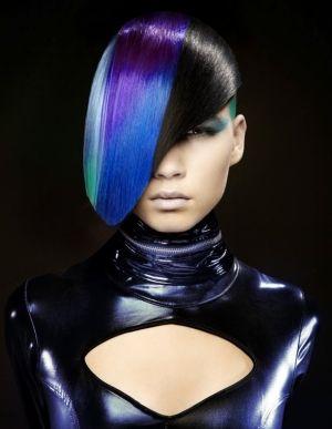 Futuristic Hairstyle, Nick StensonNew York, NY, futuristic look, future fashion, futuristic fashion, David Byun, hairstyle, amazing hair by FuturisticNews