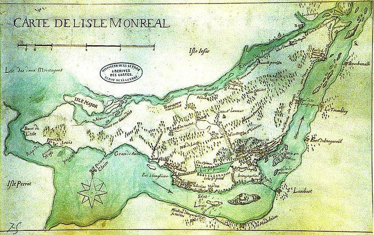 So Many Ancestors!: Mappy Monday: Map of Montreal, 1700 # ...