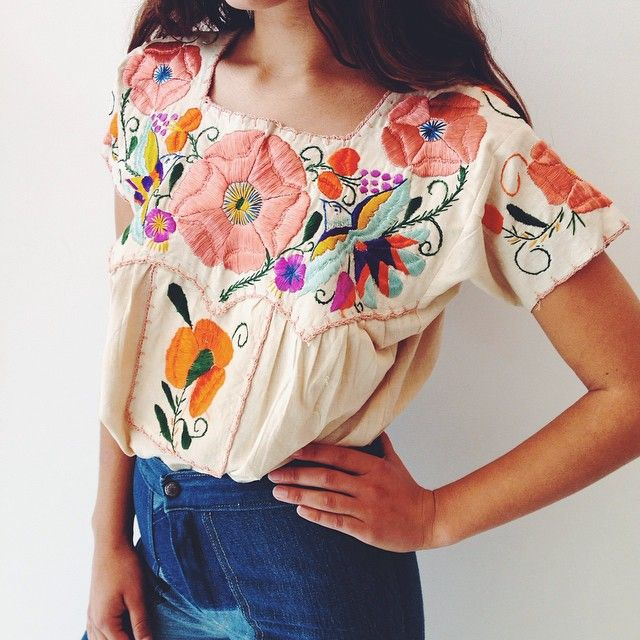 Floral embroidery forever.