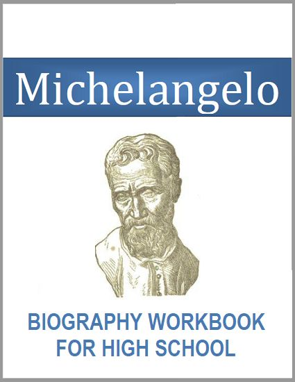 Michelangelo Biography Workbook - Free to print (PDF file). For high school World History and European History students. #renaissance