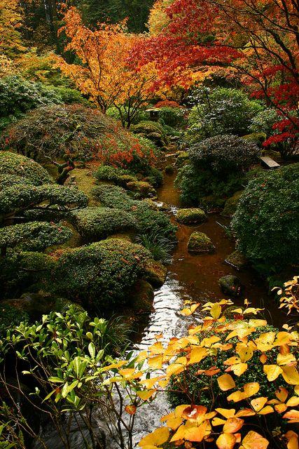 28 Japanese Garden Design Ideas To Style Up Your Backyard: Stream At Portland Japanese Garden