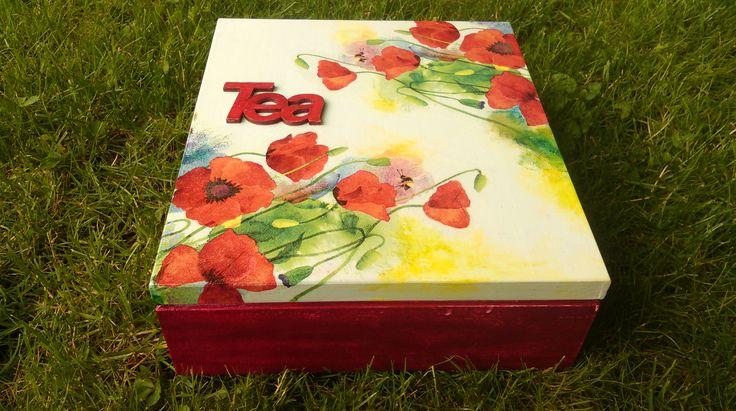 pudełko na herbatę dziewięcio komorowe