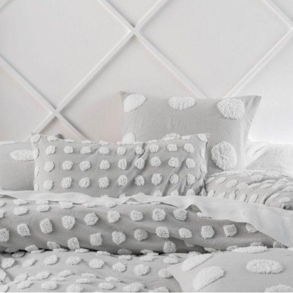Linen House Haze Grey White Quilt Cover Set Bedding Bed Linen Subtle New Background Colours Of Pink G Grey Linen Bedding White Quilt Cover Bed Linen Design