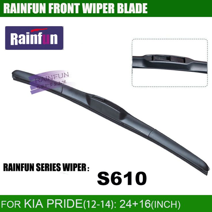 RAINFUN dedicated car wiper blade for 2012-2014 KIA PRIDE,  24+16 inch  dedicated car windscreen wiper blade,essuie glace #Affiliate