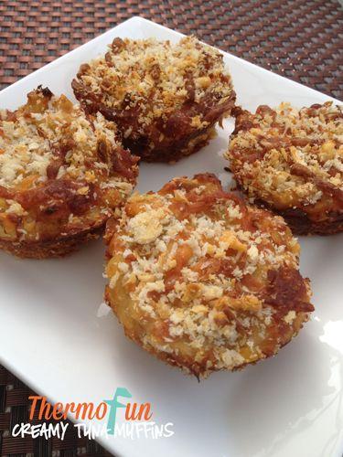 ThermoFun - Creamy Tuna Muffins - thermomix tuna muffins