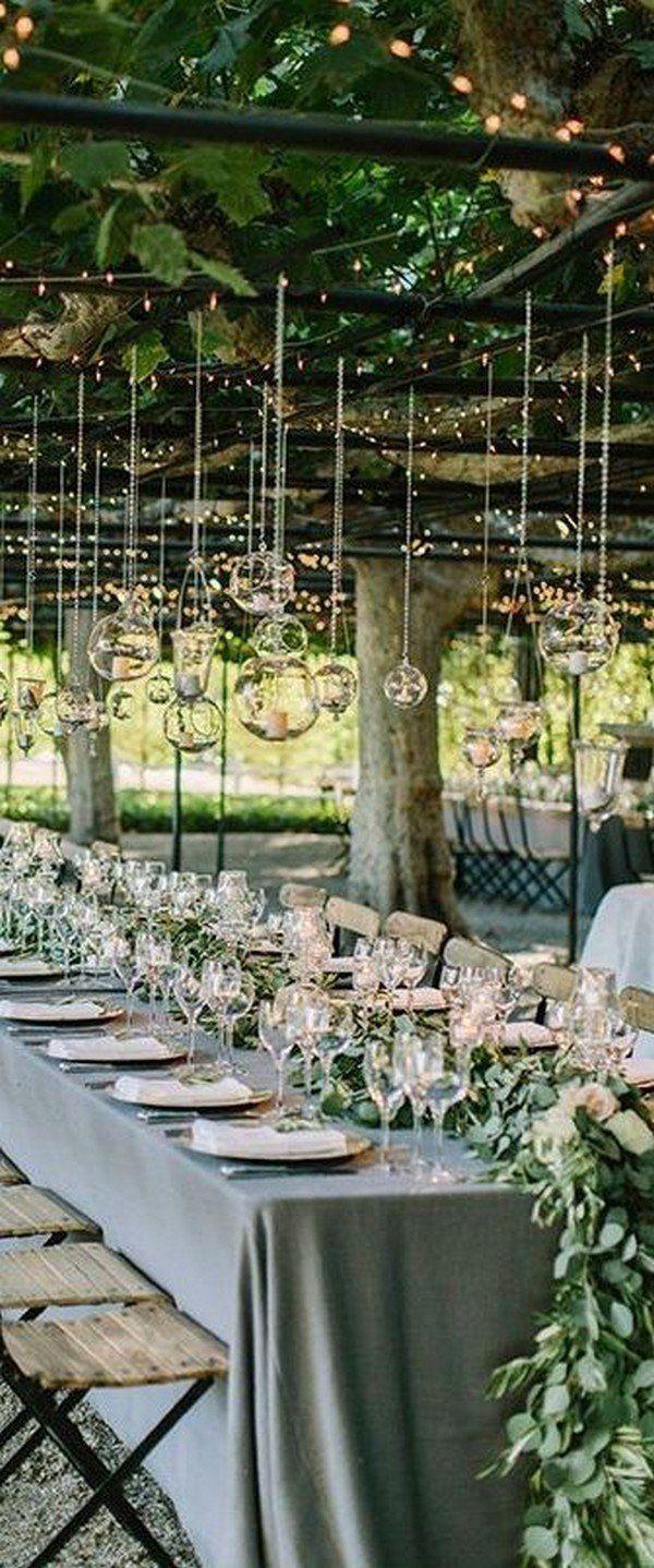 Grey wedding decoration ideas  Trending Elegant Green and Grey Wedding Color Ideas for