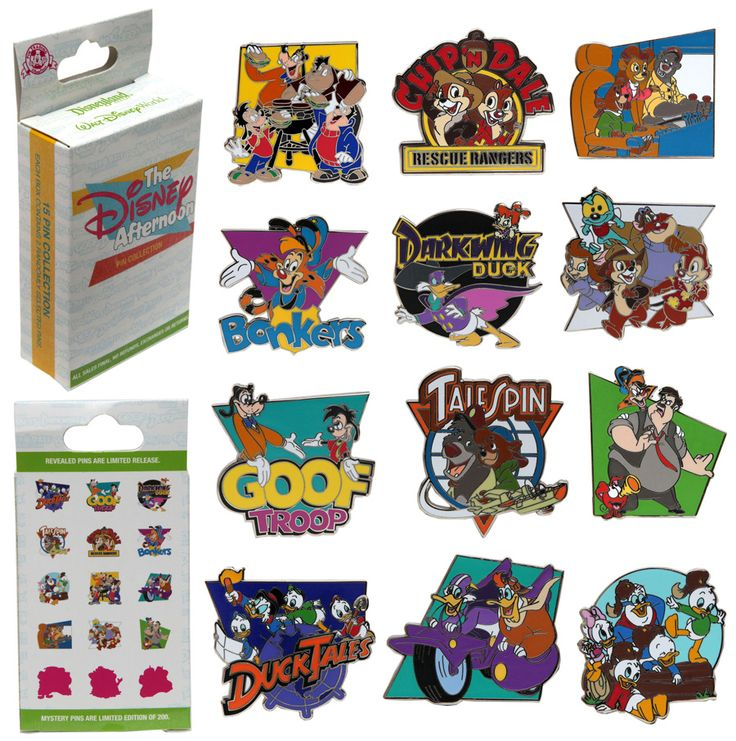 New Disney Afternoon Pin Set coming to Disneyland and Disney World!