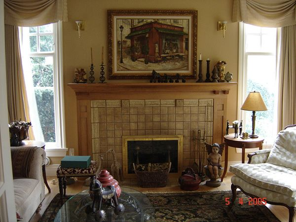 21 best arts crafts fireplaces images on pinterest for Bungalow fireplace ideas