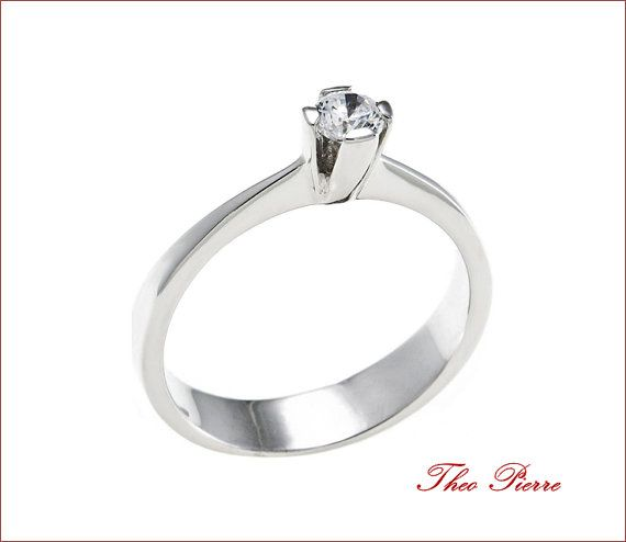 Promise Ring - Anniversary Ring, Gold 18K or Sterling Silver