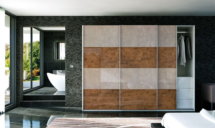 Glidor Ultragloss Limestone Ultragloss Copperleaf Sliding Doors – By BA Components