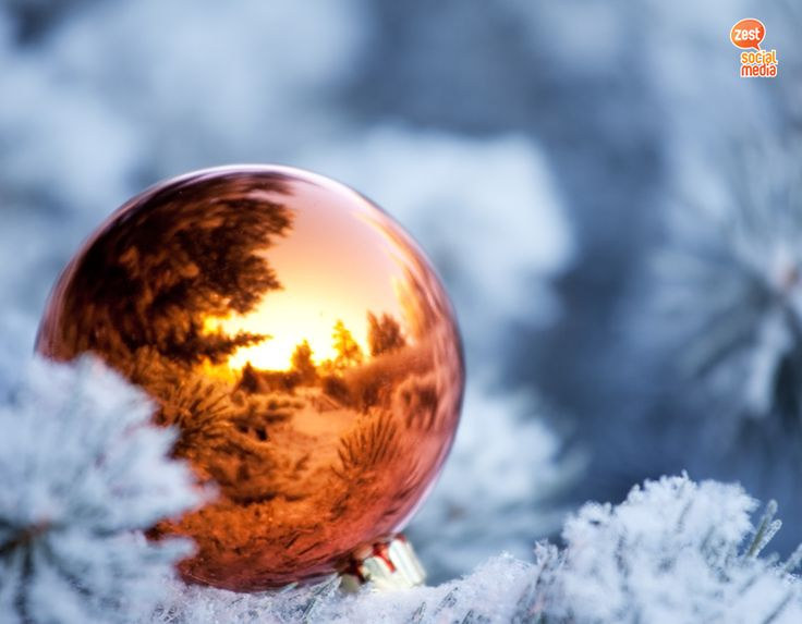 #christmas #ornament #snow #winter #reflection