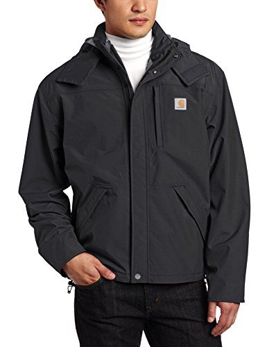 Carhartt Men's  Shoreline Jacket Waterproof Breathable Nylon,Black,Large Carhartt ++ You can get best price to buy this with big discount just for you.++