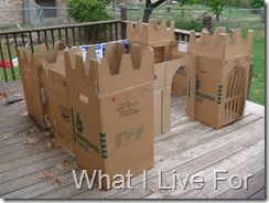Cardboard Castle- make with our moving boxes after our move.