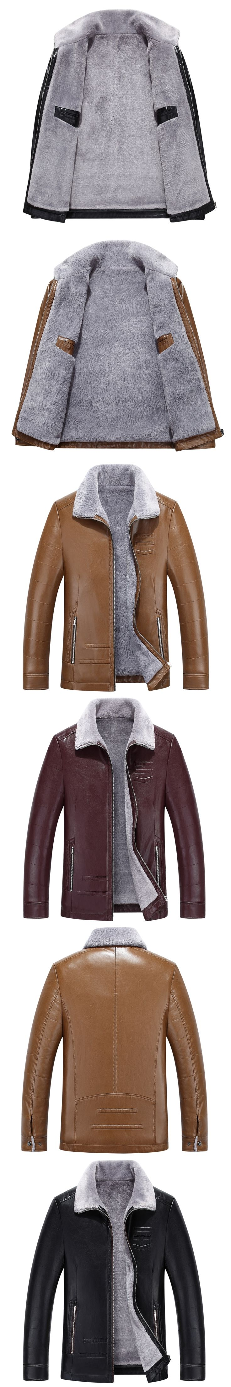 8719 New Fashion Men Clothing Sheepskin Sheepskin Leather Coat Man Winter Lamb Fur Coat  Man Winter Leather Jacket