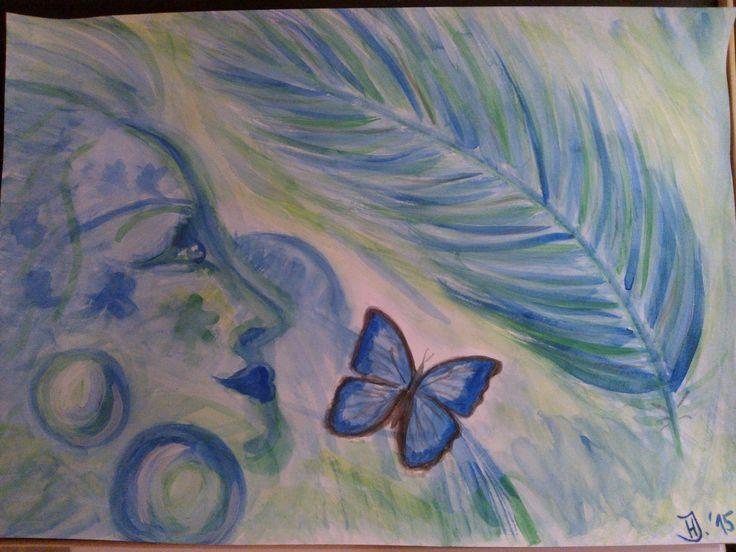 """""""Za-snění"""", ...Angel, Mystic...watercolor"""