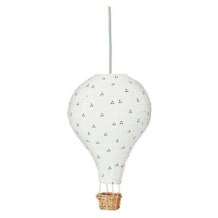 Luftballon Lampe - Dots Navy Mint