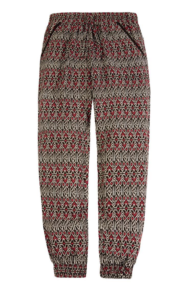 Primark - Rode broek in bohostijl met print