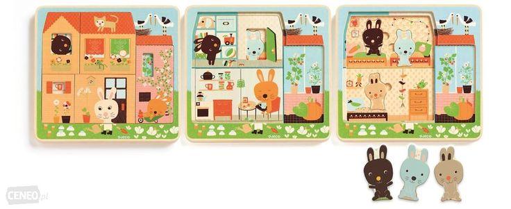 Djeco Puzzle Dla Najmłodszych 3 Plansze Króliczki Dj01480 - od 88,00 zł, porównanie cen w 3 sklepach. Zobacz inne Puzzle, najtańsze i najlepsze oferty, opinie.