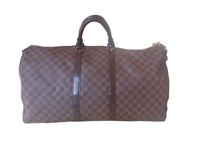 Louis Vuitton - Keepall 55 Damier ébène Sac de voyage   catawiki ... 956165d12b3