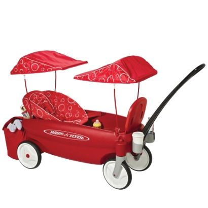 Radio Flyer Comfort Embrace Wagon - equipped with a baby seat!  Gotta love that!