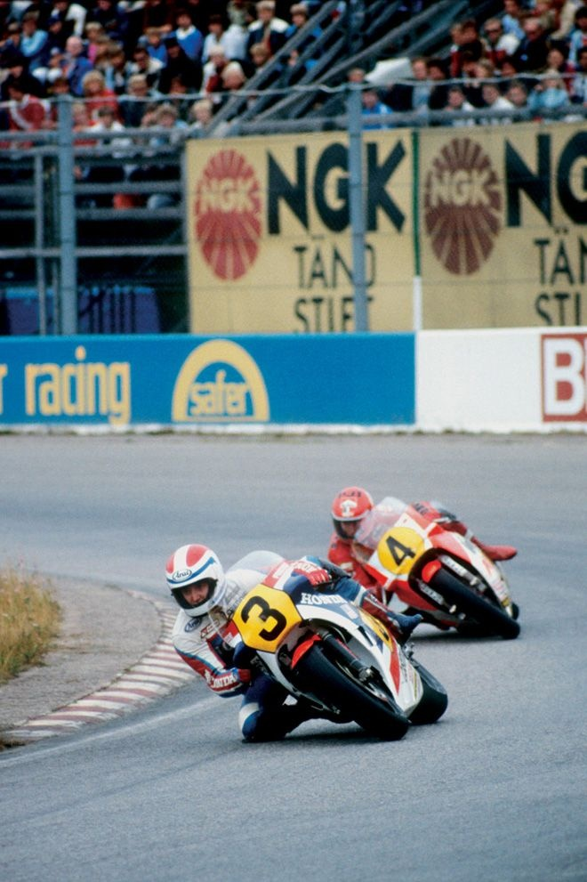 Freddie Spencer with Kenny Roberts