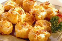 Bacon Cheddar Puffs - I so love these! Light and fluffy, like air with bacon!